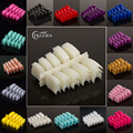 TKGOES 100pcs Beauty Acrylic Nail Tips 29 Color Acrylic Half Nail Tips Plastic False French Nails for Finger Nail Art Tips
