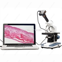 Cheapest prices teaching and clinic-AmScope Supplies 2000X Double Layer Stage LED Monocular Digital Compound Microscope w 3MP Camera