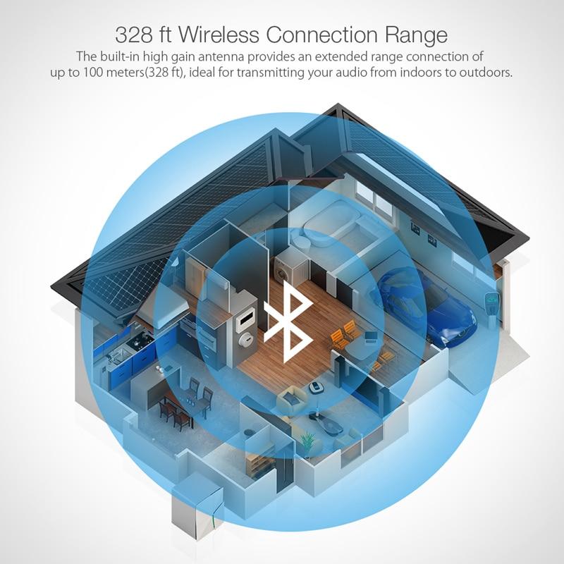 BlitzWolf BW-BR4 V5.0 bluetooth sans fil 2 dans 1 Émetteur-Récepteur aptX HD Musique adaptateur audio 3.5mm Aux pour Haut-Parleur TV MP3 - 3