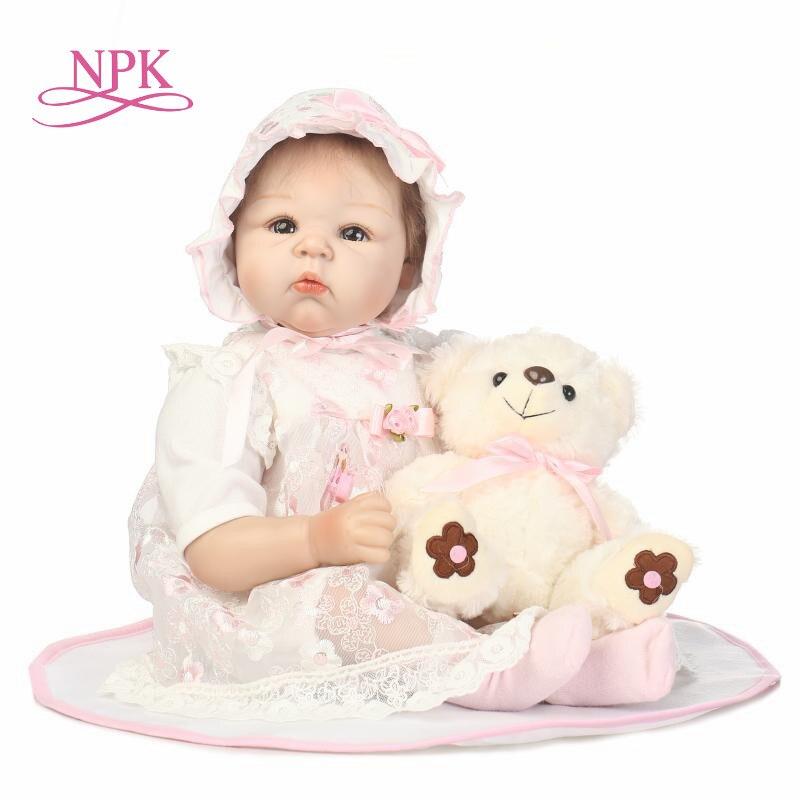 NPK Baby Reborn Dolls Soft Silicone Handmade Cloth Body Reborn Babies Doll Toys for Children Best