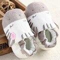 2016 Sapatos de Bebê Bonito animal print Infantil natal Sapatos de sola de Algodão Macio Criança Primeiros caminhantes Meninos Meninas Sapatos casuais loafer
