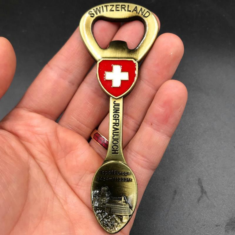 1 Pc New Hot Svizzera Di Viaggio In Metallo Frigorifero Adesivi Magnetici Turistico Magnete Del Frigorifero Souvenir Regalo Complementi Arredo Casa