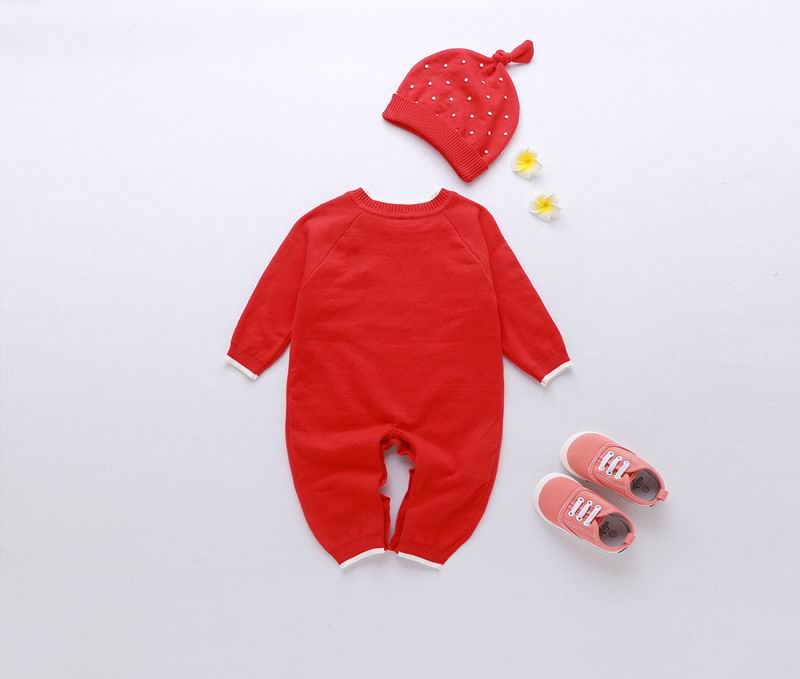 Retail 2016 Christmas Baby Romper Boy Girl Red Deer Long Sleeve Rompers Toddler Jumpsuit With Hat Kids Clothing 12211 newborn baby rompers baby clothing 100% cotton infant jumpsuit ropa bebe long sleeve girl boys rompers costumes baby romper