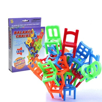 Balance Chairs Board Game Children Educational Toy Balance Toy Puzzle Board Game Environmental Protection ABS Plastic connect 4 classic grid board game toy