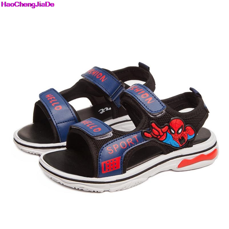 HaoChengJiaDe Summer Beach Boys Sandals Kids Leather Shoes Fashion Sport Sandal Children Sandals For Boys Casual Shoes EUR 25-36