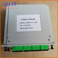 1*16 PLC Fiber Optic Splitter, Cassette type, Used in FTTH Box, SC/APC connector, 5pcs a lot