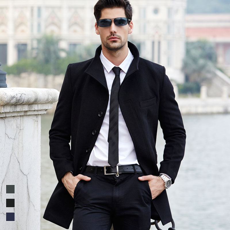 Popular Mens Long Pea Coat-Buy Cheap Mens Long Pea Coat lots from ...