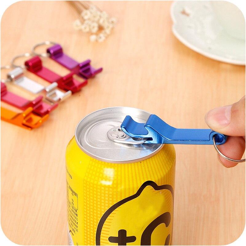 LK/_ Pop Can Ring Shape Cute Beer Bottle Opener Keychain Bag Decor Car Key Ring