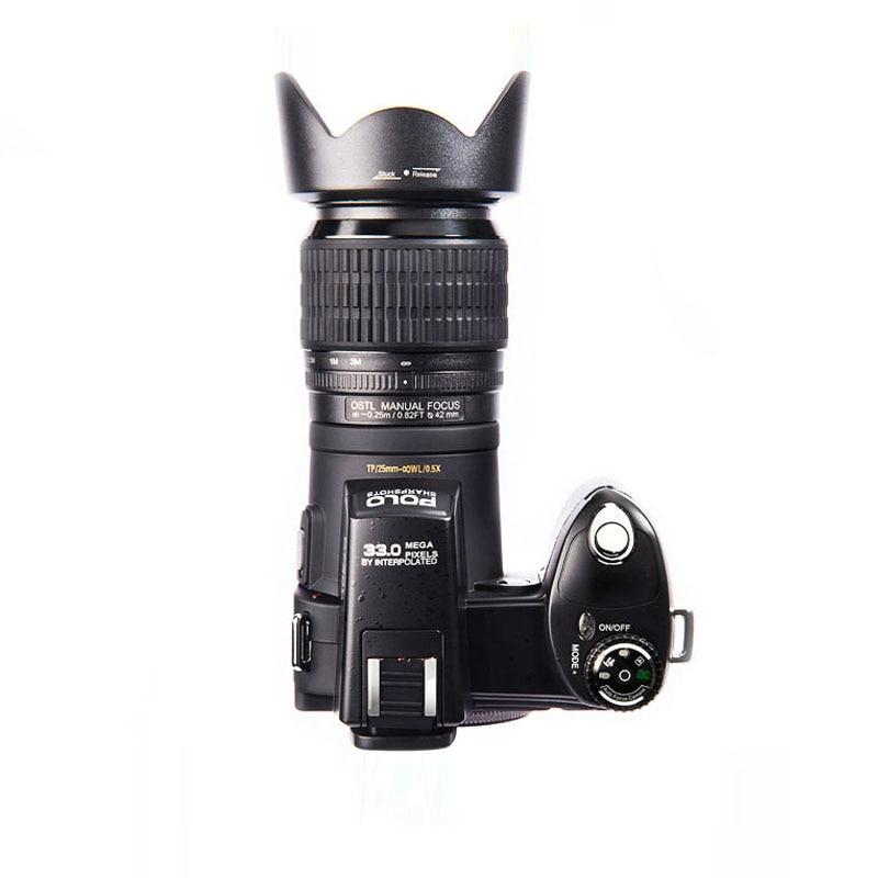 Protax Polo D7100 appareil photo numérique 33 millions de pixels Auto Focus professionnel appareil photo vidéo reflex 24X Zoom optique avec trois objectifs