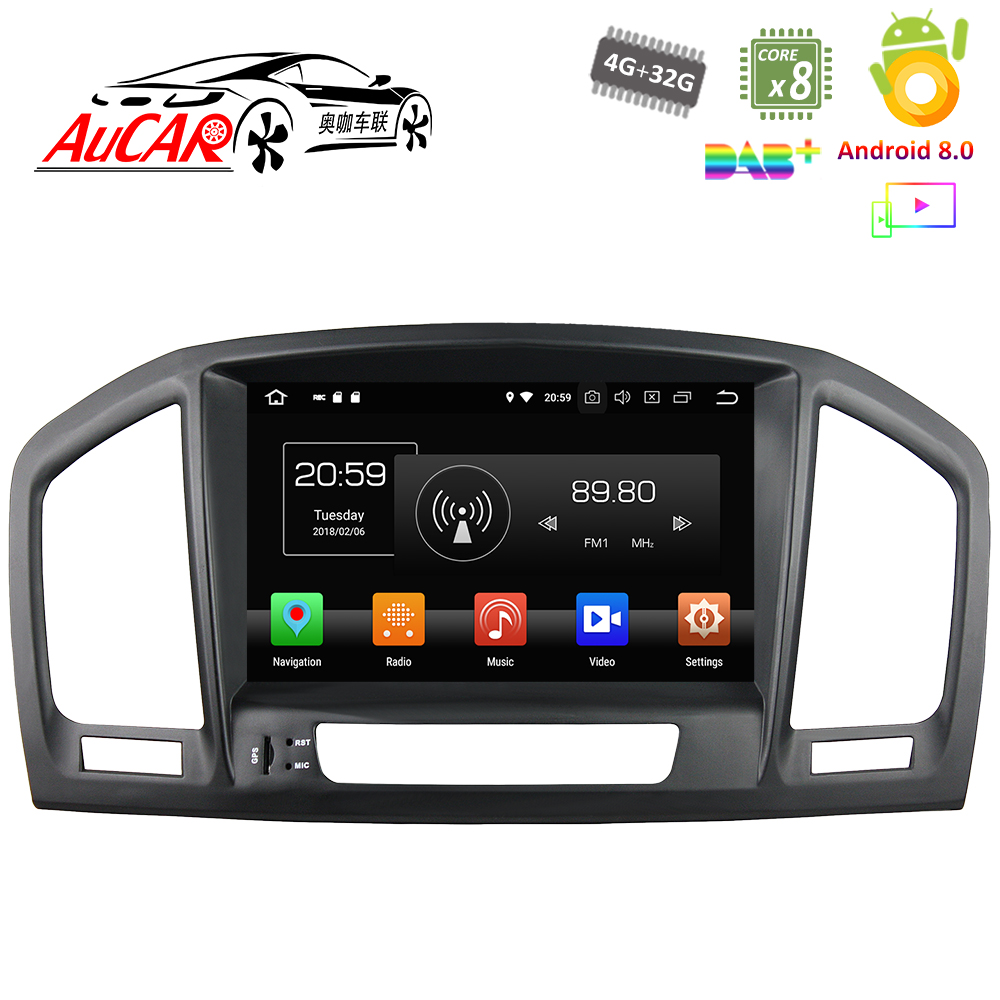 цена на Android 8.0 Car DVD Player for Opel Insignia / Buick Regal 2009 - 2013 GPS Navigation system Bluetooth Car Radio WIFI 4G AUX