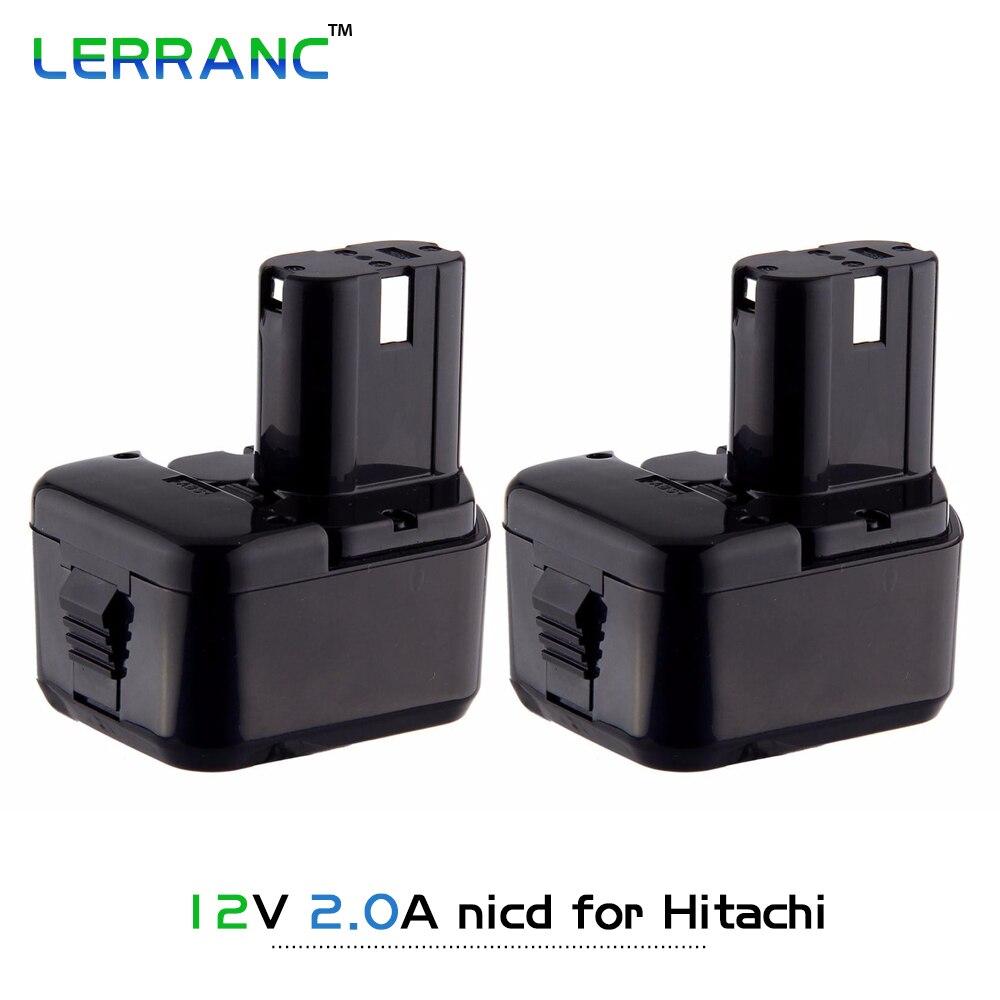 QTY 2X 12V Ni-CD 2000mAh Rechargeable Power Tool Battery for Hitachi EB1220BL EB1214L Eb1220hl Eb1220hs EB 1230HL  EB 1230R  аккумулятор для hitachi bcc1215 eb1214l eb1214s eb1220bl eb1224 2000mah cameronsino