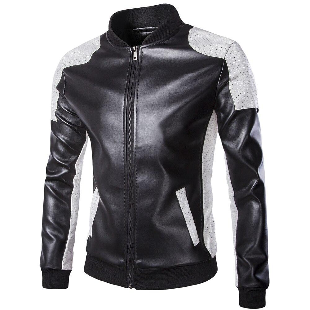 Grande taille hommes vestes en cuir cuir et daim nouveau mâle hip-hop Style moto cuir manteaux taille 4XL vestes