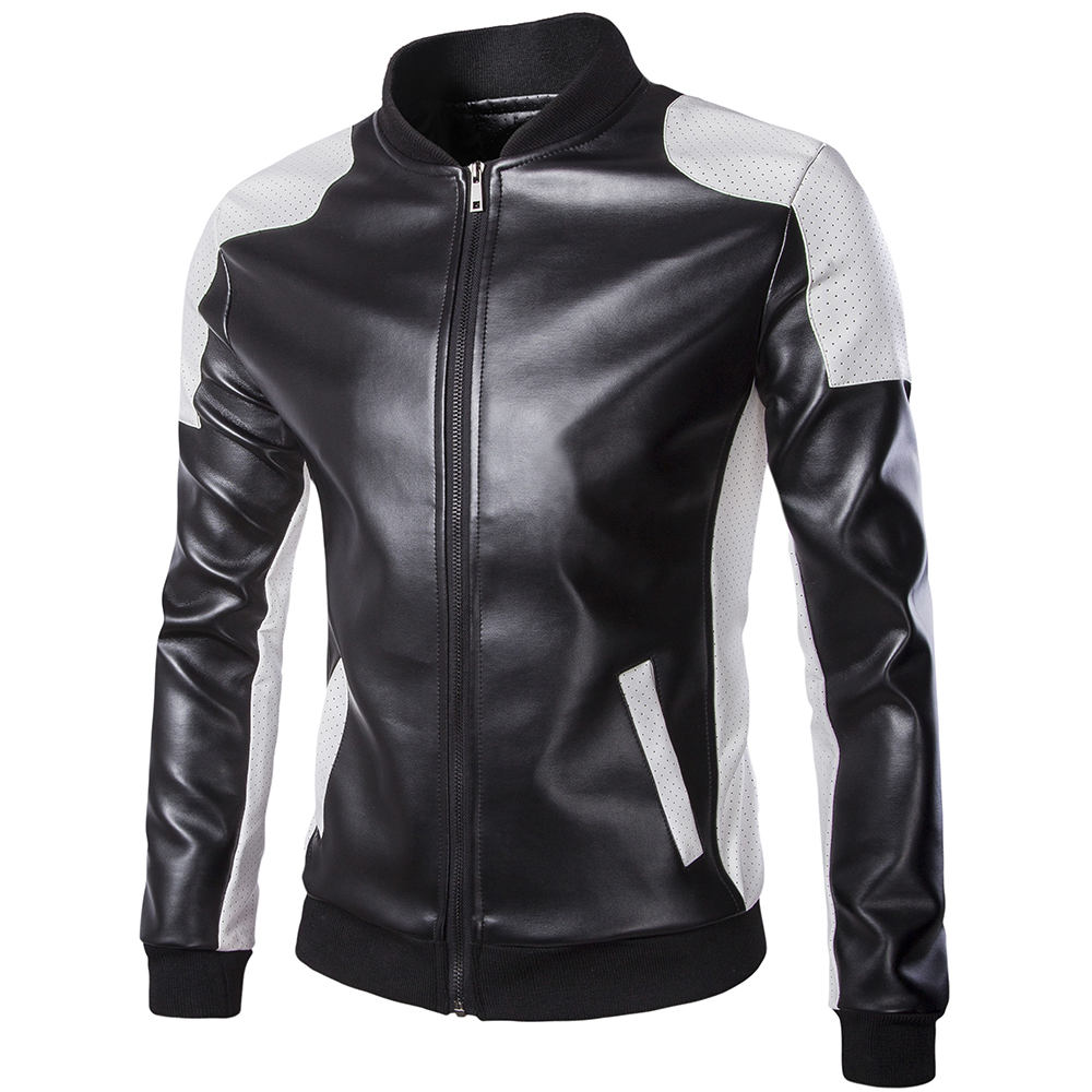 Hip hop leather jackets for men