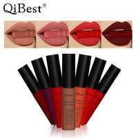 Qibest Marke 34 Farben Wasserdichte Matte Nude Lippenstift Lipkit Pigment Dark Rot Schwarz Lang Anhaltende Lip Gloss Lot Frauen Make-Up