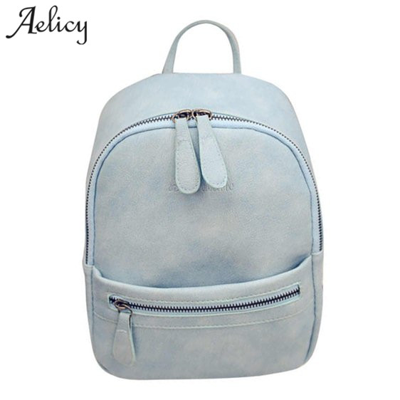 Aelicy Fashion Women Backpack Small Size PU Leather Women's Backpacks School Bags for Girls Female Travel Leather Backpack simple designer small backpack women white and black travel pu leather backpacks ladies fashion female rucksack school bags