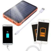 Carregador para o para o Telefone 2017 Mais Novo 12000 MAH À Prova D' Água Portable Solar Power Bank Dual USB Carregador Celular