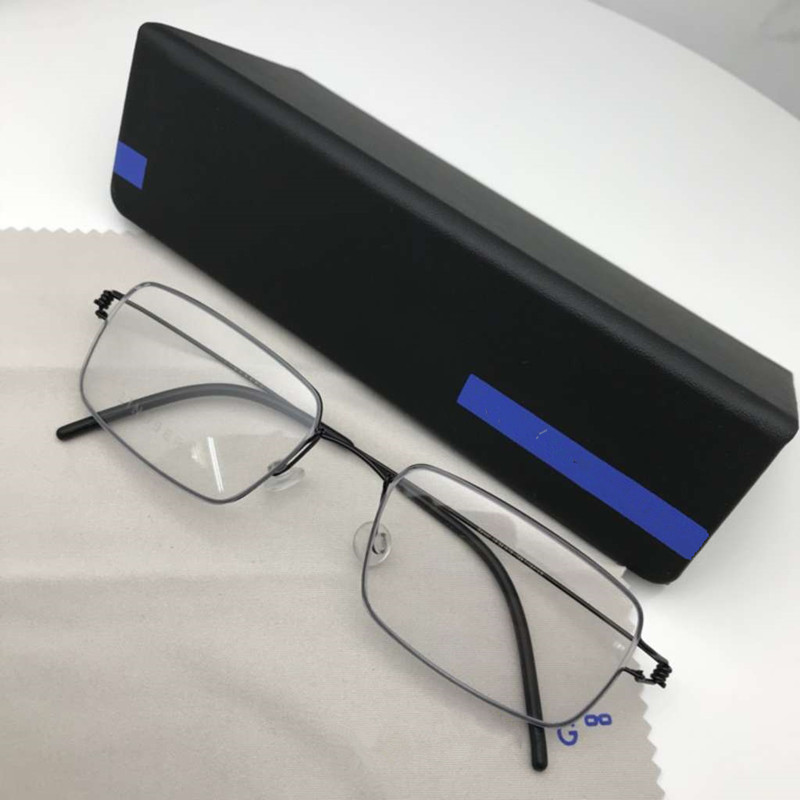 Titanium Rim Square Glasses Frame Business Men High Quality Eyewear No Screw Hand-made Myopia Optical Eyeglasses Frame