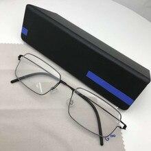 Tytanowe obręcze kwadratowe okulary rama biznes mężczyźni okulary wysokiej jakości bez śruby ręcznie robione krótkowzroczność okulary optyczne ramki