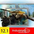 """Industiral 12.1 """"Open Frame Tela Sensível Ao Toque Resistiva Quatro-wire 1400*1050 Monitor de LCD com HDMI 12.1 polegada Monitor de Tela de toque"""