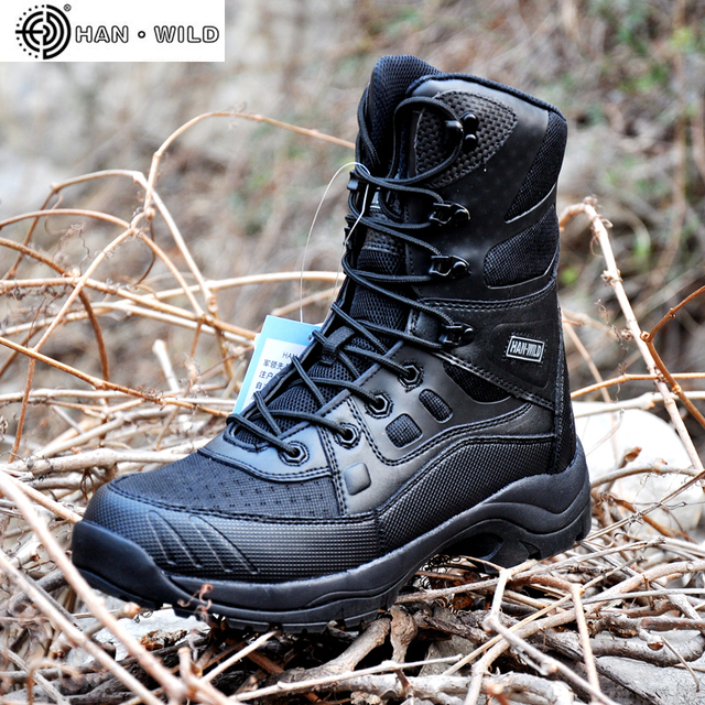 a05a12aea6e US $54.97 58% OFF|Men Military Army Boots Leather Vintage Lace Up Front Men  Tactical Boots High Top Safety Shoes Combat Ankle Boots Men-in Work & ...