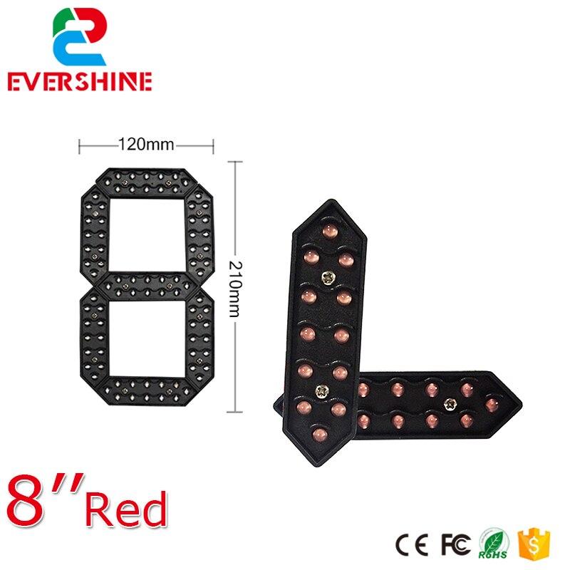 8 Outdoor Red Color LED Digital Gas Station 7 Segment LED Sign Digital Number Module