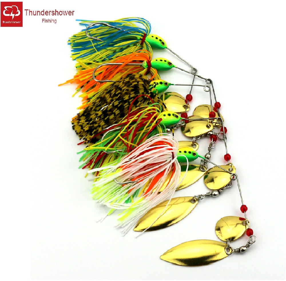 25 Silicone Skirt Gold Scale spinner bait bass lure jig