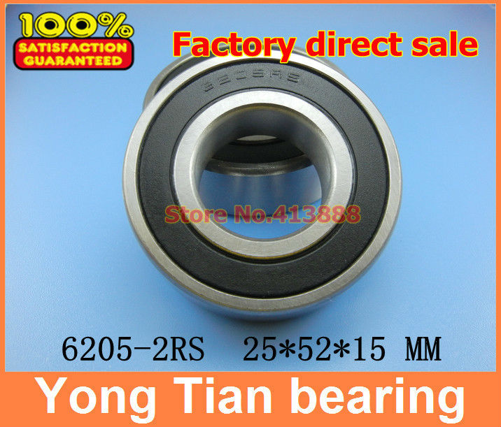 4pcs free shipping double Rubber sealing cover deep groove ball bearing 6205-2RS 25*52*15 mm 608 2rs 608rs 608 2rs 8mmx22mmx7mm double purple rubber sealing cover deep groove ball bearing for skate scooter abec 9