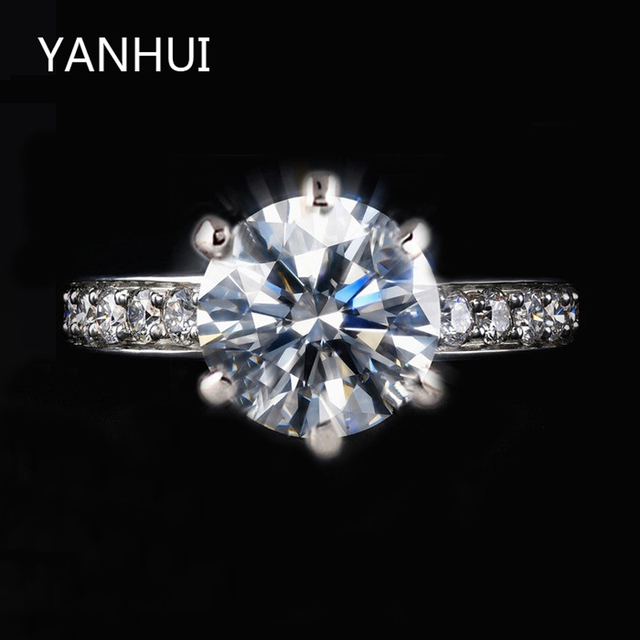 95% OFF!!! With 18KGP Stamp White Gold Filled Rings Set Luxury SONA 8mm 1 Carat CZ Diamant Wedding Rings For Women JZR001