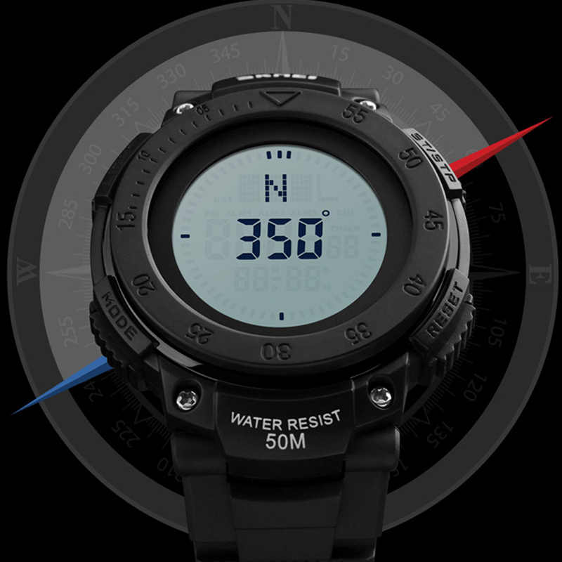 Compass Sport Watch Men Countdown Chrono Alarm Watches For Man Clock Waterproof Digital Wristwatches Relogio Masculino SKMEI
