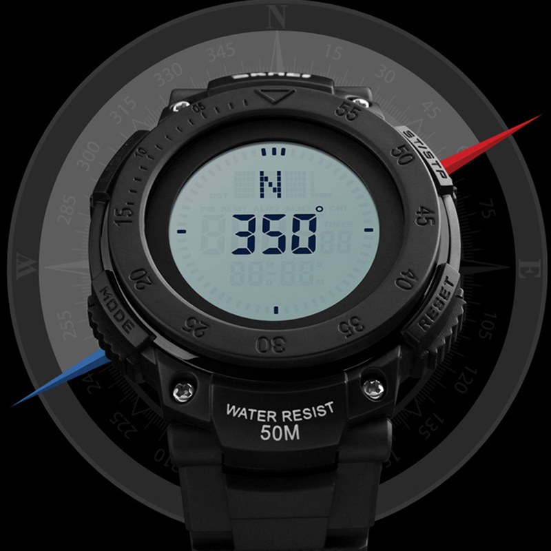Compass Sport Watch Men Countdown Chrono Alarm Watches For Man Clock Waterproof Digital Wristwatches Relogio Masculino SKMEI skmei brand men s fashion sport watches chrono countdown men waterproof digital watch man military clock relogio masculino new
