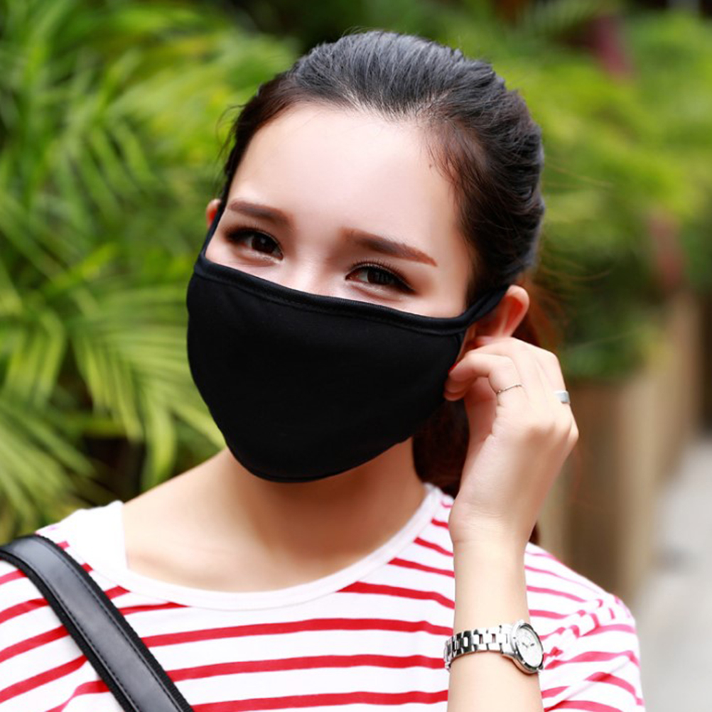 Cotton PM2.5 Anti Haze Mask Nose Filter Windproof Face Muffle Bacteria Flu Fabric Cloth Respirator Anti-Dust Face Mouth Mask