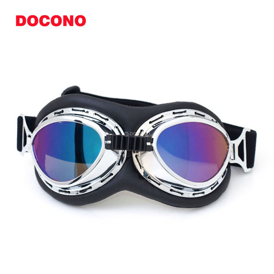 DOCONO 2018 NEW WWII Vintage Harley style motorcycle gafas motocross moto goggles Scooter Goggle Glasses Aviator Pilot Cruiser
