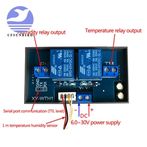 Image 3 - Thermostat Temperature Humidity Control Thermometer Hygrometer Controller Module Relay DC 12V LED Digital Display Dual Output