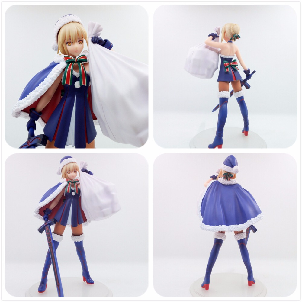 FGO Fate/Grand Order Saber Christmas Present Gift Holidays Cosplay Model Figure 23CM One Size For Cosplay Girl Gifts