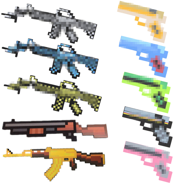 Minecrafted Toys Minecrafted Foam Diamond Gun EVA Model Weapons Toys Gift Toys For Children Kids Birthday Gifts Minecrafted Gun
