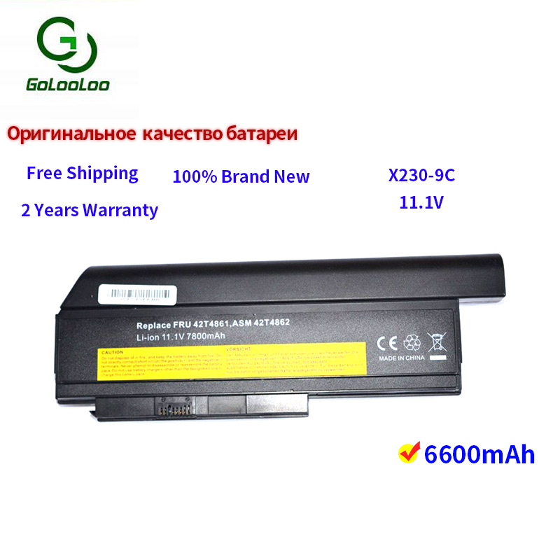 Golooloo 9 cells laptop battery for Lenovo ThinkPad X220 X220i X220s X230 X230i X230S 45N1025 45N1024 45N1028 45N1029 45N1020