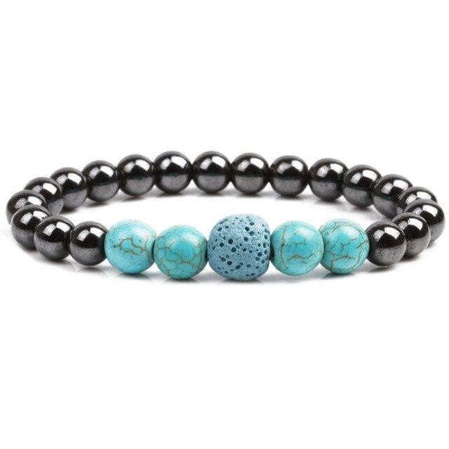 bracelet pierre turquoise homme