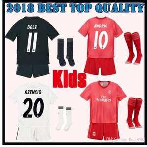 32c52e9d5 2019 Realed Madrided kids kit socks child camisetas shirt