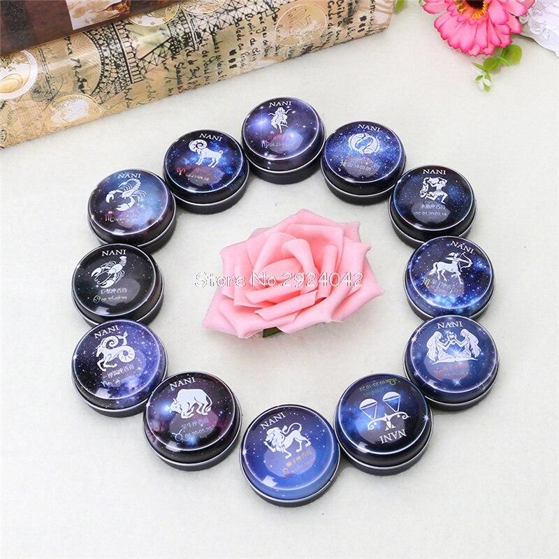 1 Unid 12 Constelación Signos Perfumes Sólidos Mágicos Perfume Desodorante Fragancia HTY07