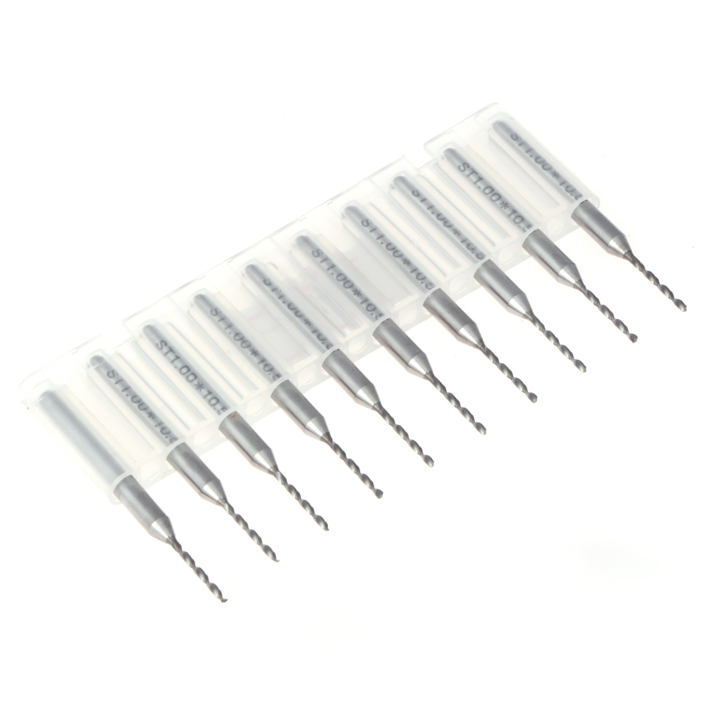 High Quality Materials 10pcs Mini PCB SMT CNC Mold Print Circuit Board Carbide Micro Drill Bits Engraving Tool 0.5 / 0.8 / 1mm 1 pcs high quality heidelberg parts new board ltk50 91 144 8021 01a water reel drive circuit board ltk 50 91 144 8021