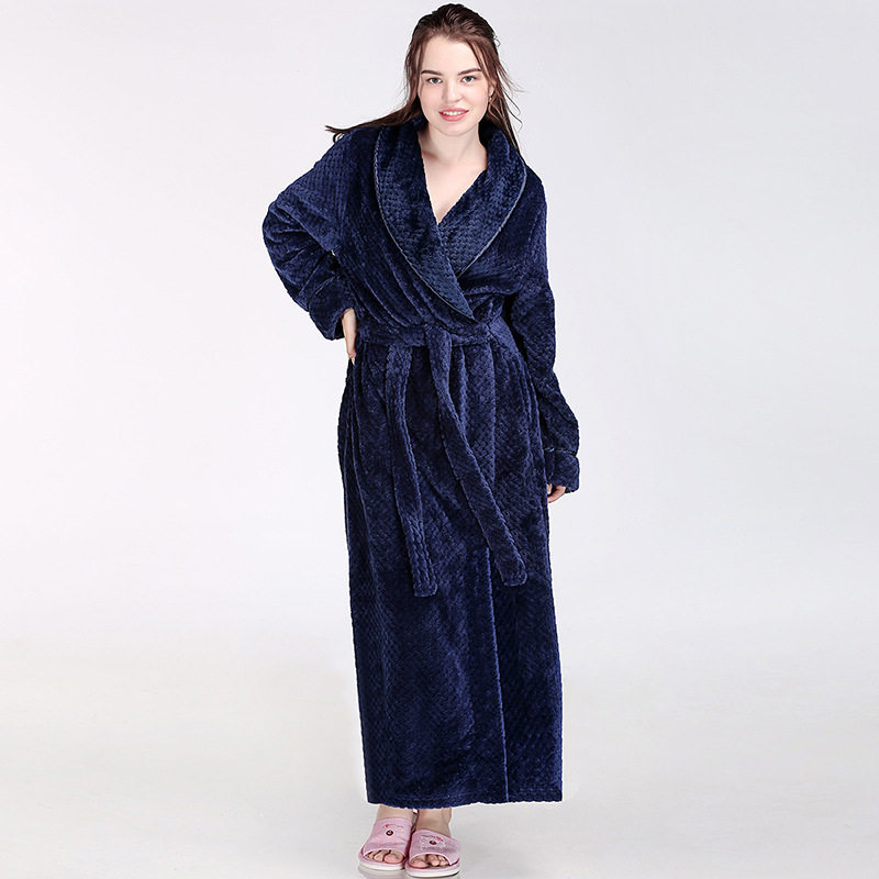 Autumn Winter Flannel Robe Women Casual Home Wear Long Sleeve Kimono  Bathrobe Gown Thick Warm Sleepwear 5a17a0c9a