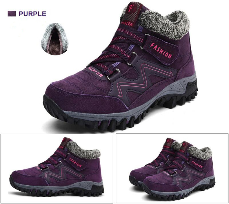 STS BRAND 2019 New Winter Ankle Boots Women Snow Boots Warm Plush Platform Boot Fashion Female Wedge Shoes Snow Waterproof shoes (12)