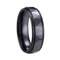 Hohe Qualität Prisma Design Facettierten Schwarzen Keramik Ringe für Mann Finger Ringe Comfort Fit Größe 4-13