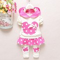 Baby Girls Kids Clothing Sets Long Sleeve T Shirt + Pants Children Clothes Dot Cartoon minnie Baby girls Clothes suits