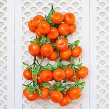 New 8pcs A Bunch Fake Foam Orange Fruits Artificial Decor Model For DIY Wedding Simulation Tree Ornamen