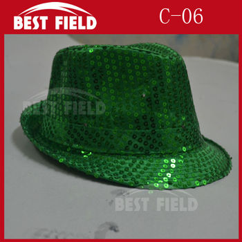 Free Shipping 10pcs Super Bright LED Cap Glow in dark led hat Performance hat fashion light dance toys for party supplies