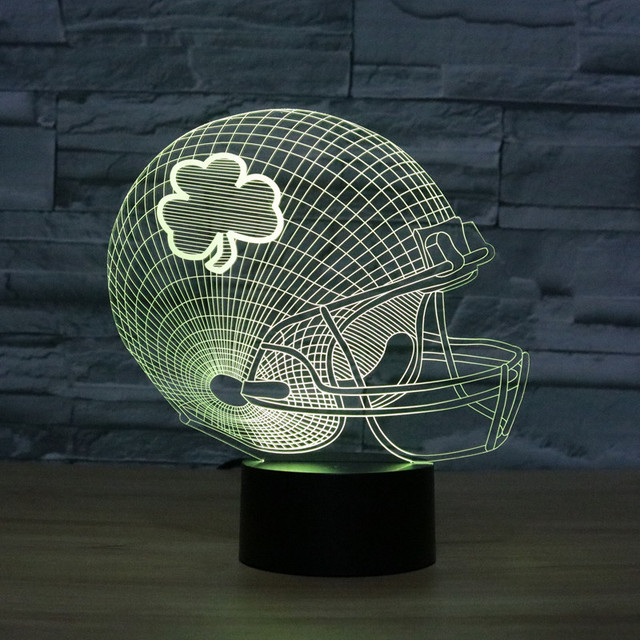 aliexpress koop creatieve 7 kleurverandering 3d led tafellamp