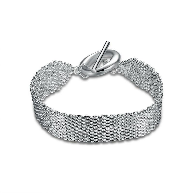 gros bracelet argent femme