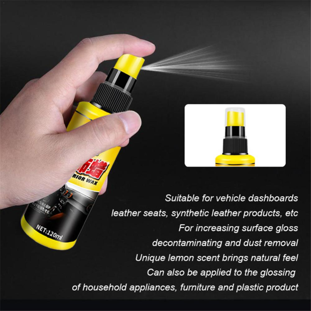 Kickstarters & Parts Car Interior Leather Restorer Dashboard Leather Trim Seat Glossing Wax Maintenance Care Dust Removal Liquid Car Cleanning Tools To Adopt Advanced Technology Back To Search Resultsautomobiles & Motorcycles