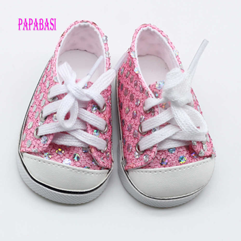 Pink Cute Doll Shoes For 18 Inch Baby Born Doll Handmade Sneakers Girl  Clothes Accessories 43cm 636254804890